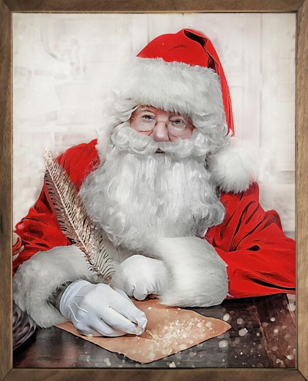 Watercolor Santa's List – Kendrick Home Wood Sign
