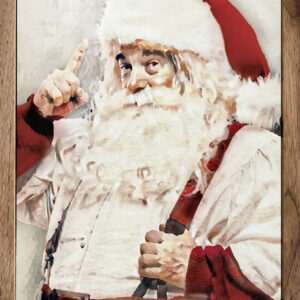 Watercolor Mr. Claus – Kendrick Home Wood Sign