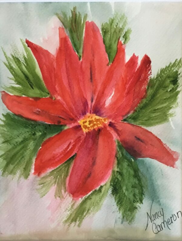 Poinsettia Holiday Note Cards