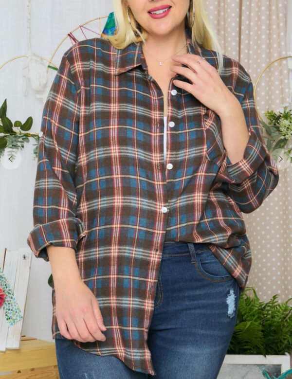 Plus Size Flannel (More Colors)