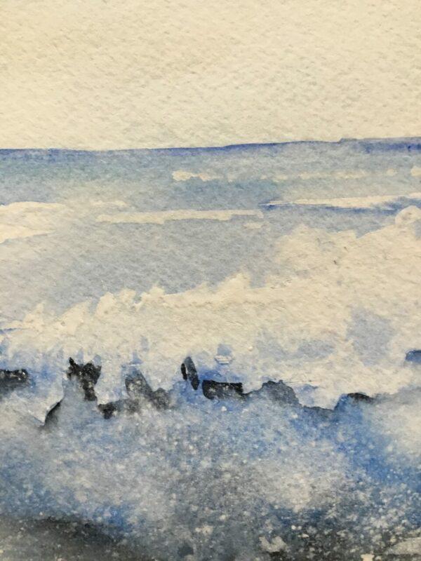 Surf's Up Original Watercolor