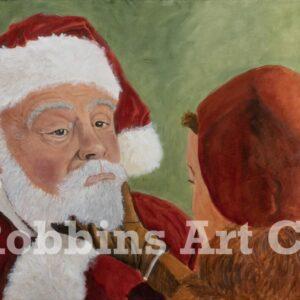 It's Real! Santa Oil Painting by Chris Robbins
