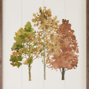 Watercolor Autumn Trees – Kendrick Home Wood Sign