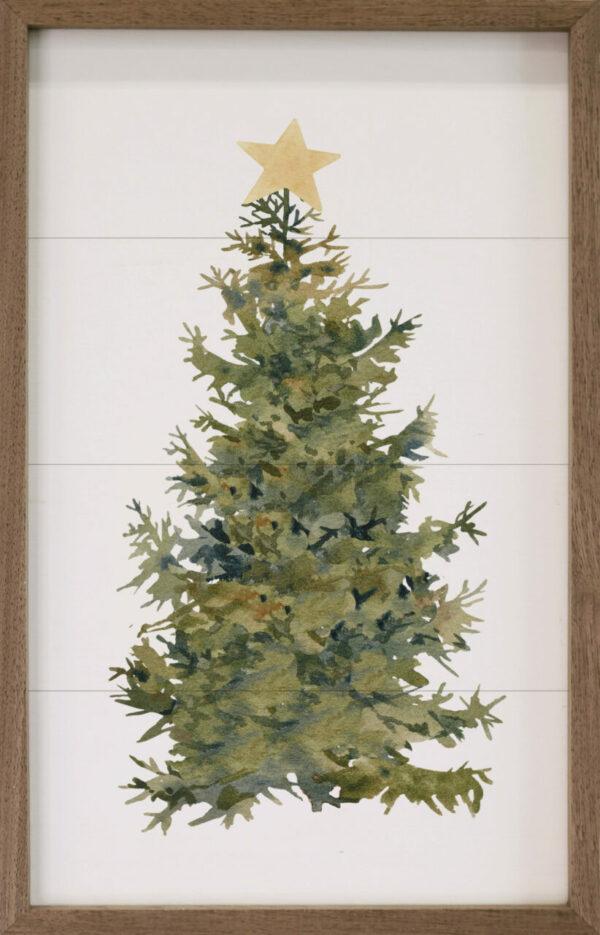 Watercolor Star Tree – Kendrick Home Wood Sign