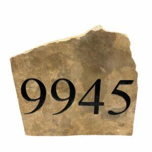 House Address Engraved Stone