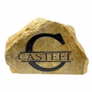 Monogram Family Name Engraved Stone